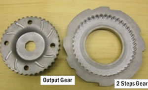 Specification of Input Gears and Specification of Two-Step Gears