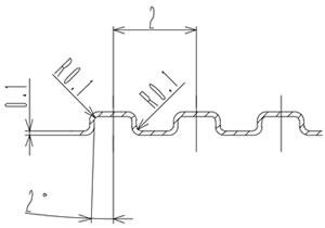 金属セパレータの流路形状