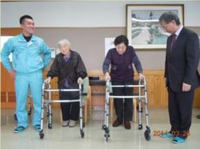 介護用歩行器進呈